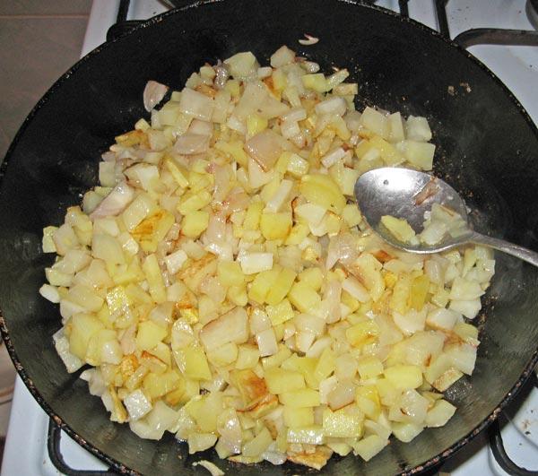 Готовим овощную начинку для пирога